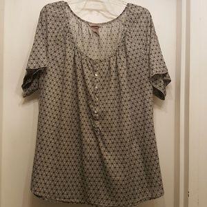 H&M Plus-Size Cotton Blouse, Size 20